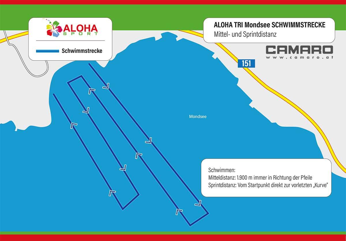 ALOHA TRI Mondseeland – Schwimmstrecke